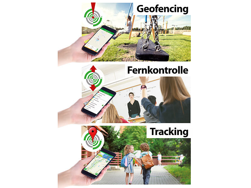 ; GPS-GSM-Tracker mit Apps & SOS-Funktionen GPS-GSM-Tracker mit Apps & SOS-Funktionen GPS-GSM-Tracker mit Apps & SOS-Funktionen
